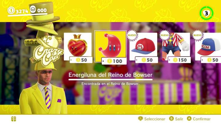 Energiluna 29  Reino de Bowser Super Mario Odyssey