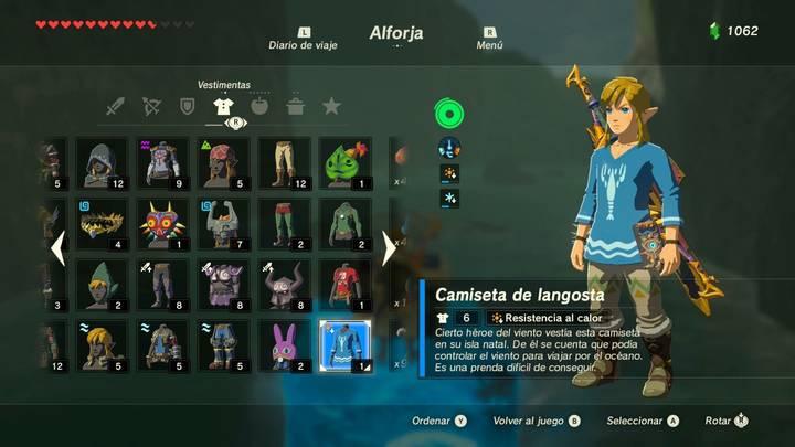 Atuendo Azul Zelda Breath of the Wild