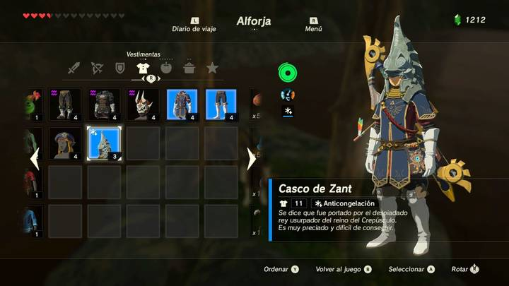 Casco de Zant Zelda la Balada de los Elegidos