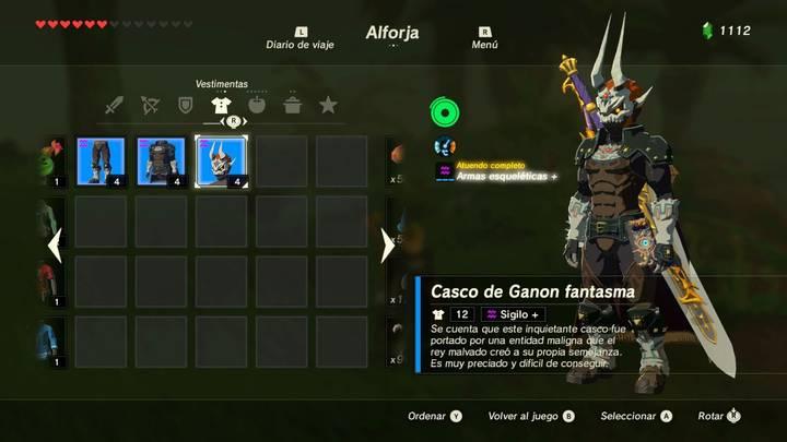 Casco de Ganon Fantasma Zelda Breath
