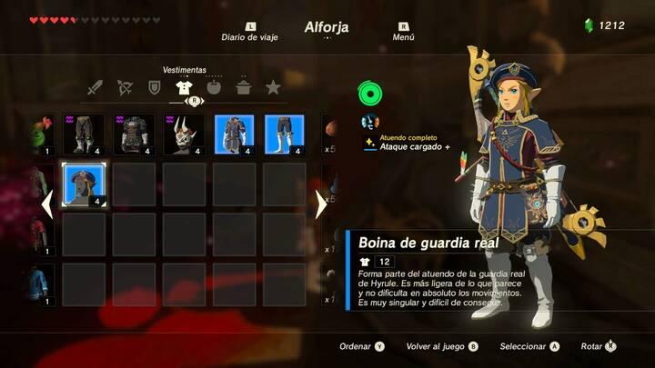 Boina de guardia real Zelda Balada de los Elegidos
