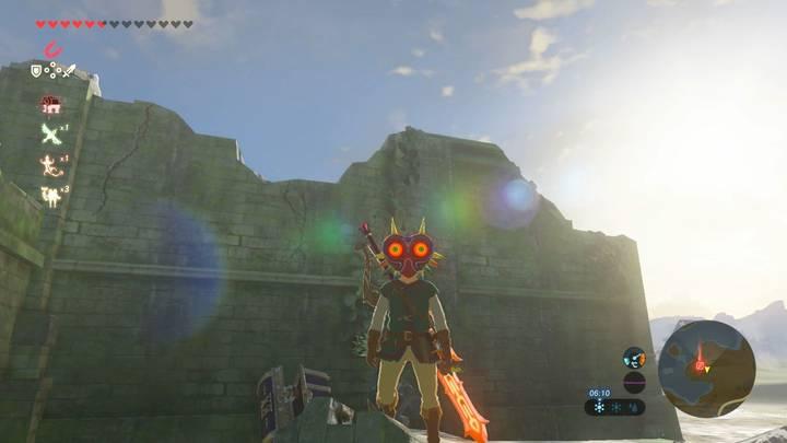 Link con la  Máscara de Majora en Zelda Breath of the Wild
