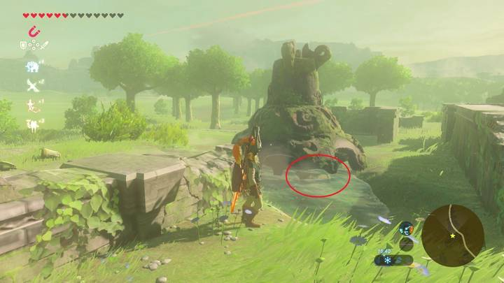 Localización del traje de Tingle en Zelda Breath of the Wild