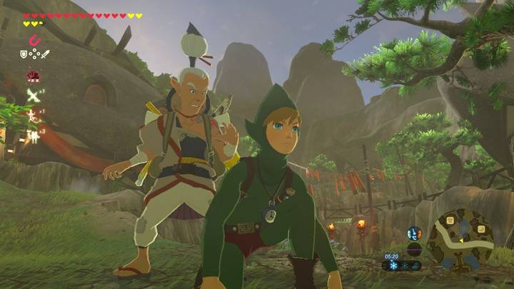 Link con el traje de Tingle en Zelda Breath of the Wild