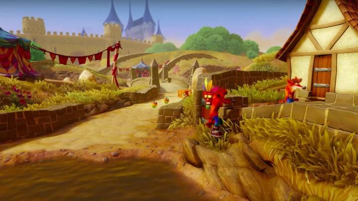 Fake Crash en Crash Bandicoot 3 Toad Village