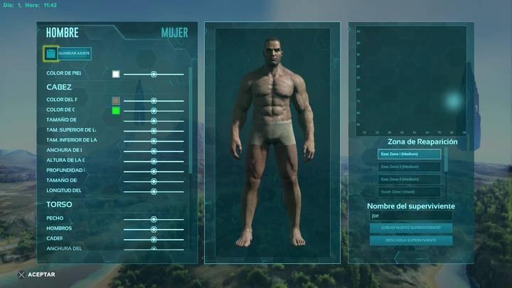 Creación del personaje ARK Survival
