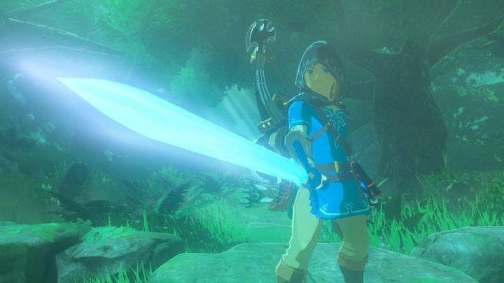 Espada maestra mejorada en Zelda: Breath of the Wild
