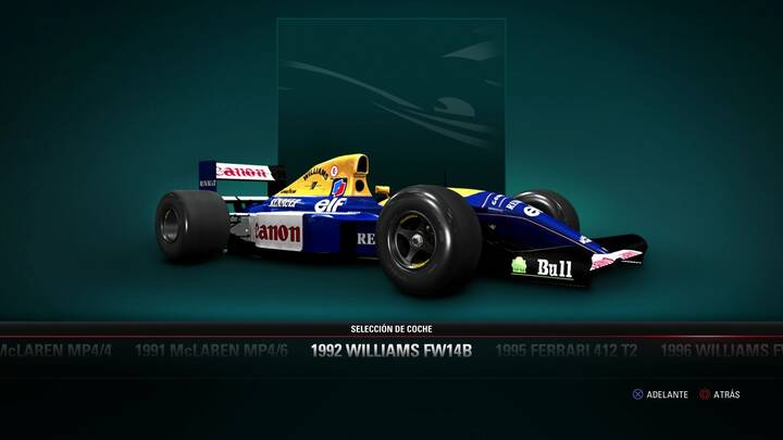 F1 2017 Williams FW14B de 1992