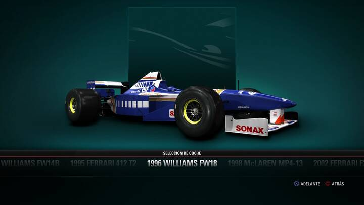 F1 2017 Williams FW18 de 1996