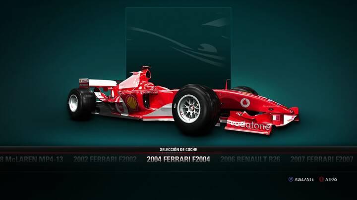 F1 2017 Ferrari F2004 de 2004