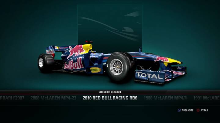 F1 2017 Red Bull Racing RB6 de 2010