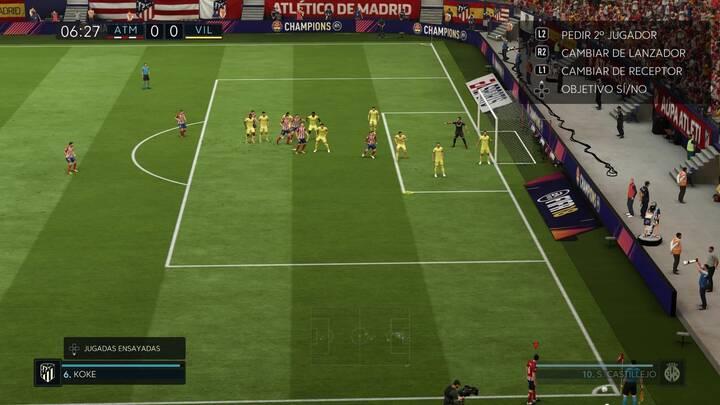 Cómo tirar los córners en FIFA 18