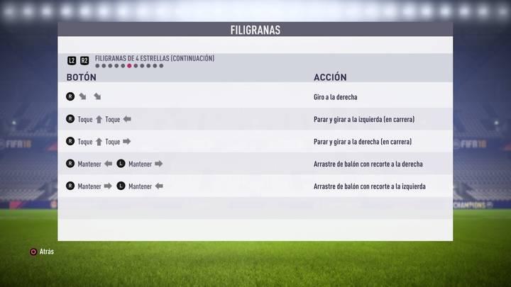 Filigranas de 4 estrellas FIFA 18