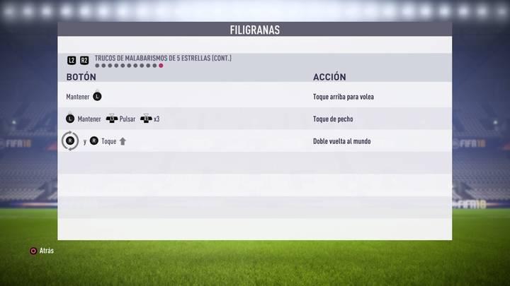 Filigranas de 5 estrellas FIFA 18