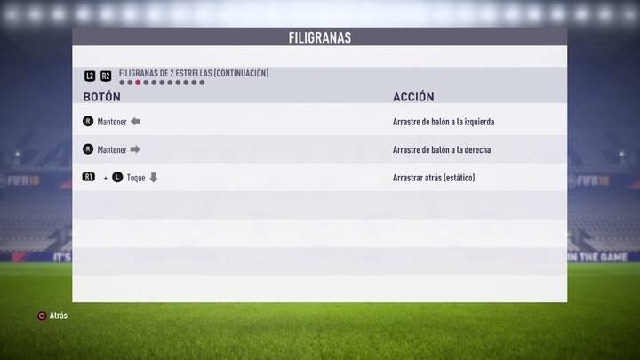 Filigranas de 2 estrellas FIFA 18