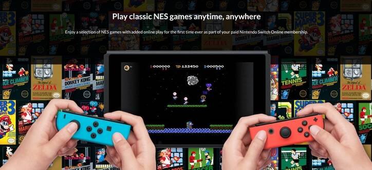 El servicio de juegos de NES en Switch ocupará 58MB