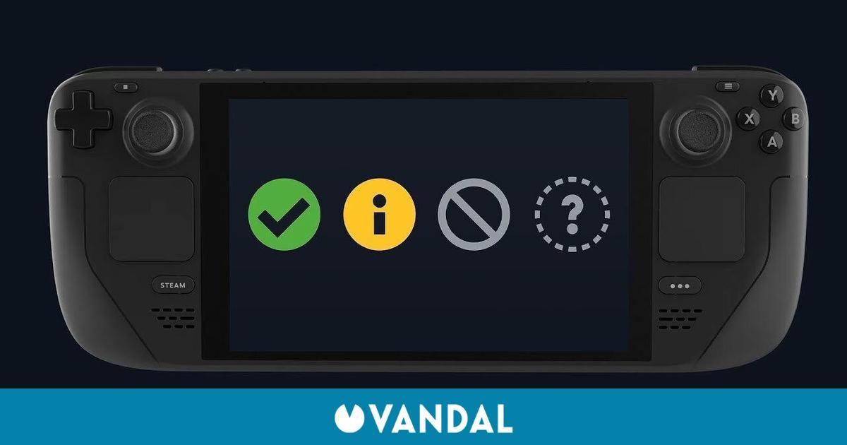 Valve estrena un sistema para comprobar los juegos compatibles con Steam Deck