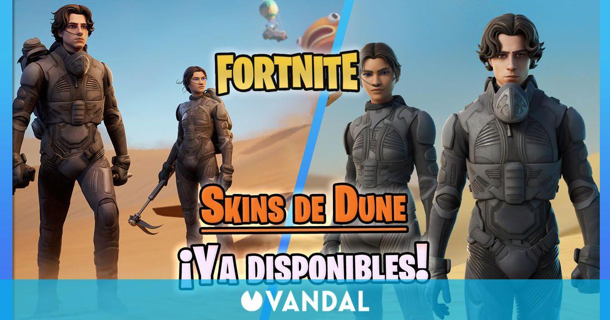 Fortnite: Skins de Dune (Paul Atreides y Chani) ya disponibles - Precios y detalles