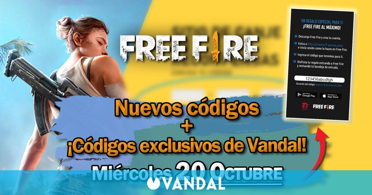 Free Fire: Códigos para hoy miércoles 20 de octubre de 2021 - Recompensas gratis