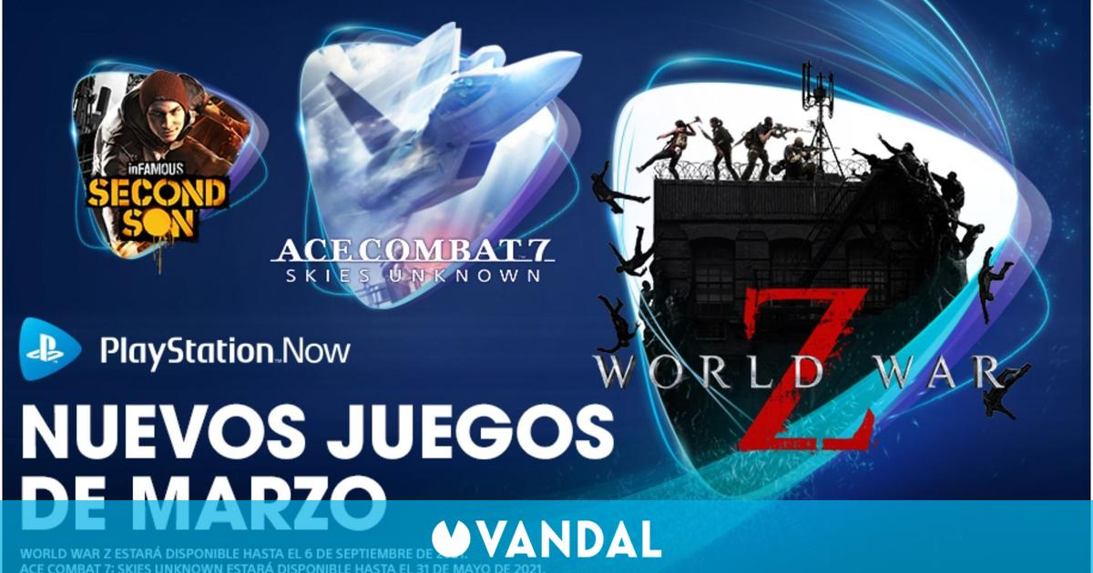 PlayStation Now estrena en marzo World War Z, Ace Combat 7, InFamous: Second Son y Superhot