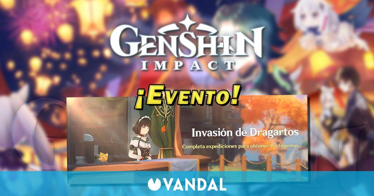 Genshin Impact - Invasión de Dragatos: Consigue Protogemas gratis en este evento