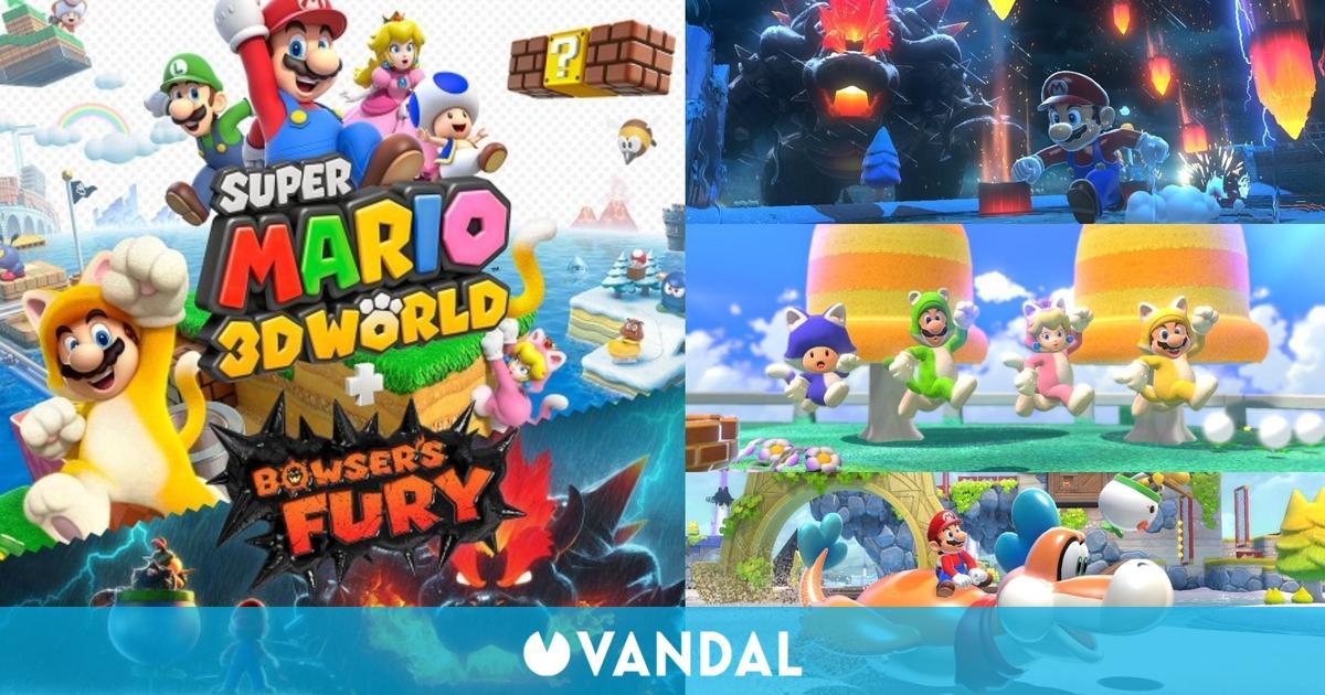 Super Mario 3D World para Switch repite como el juego más vendido en España