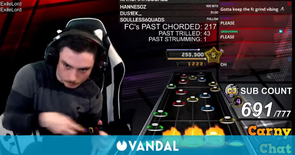 Consigue superar al 100% una canción imposible de Clone Hero