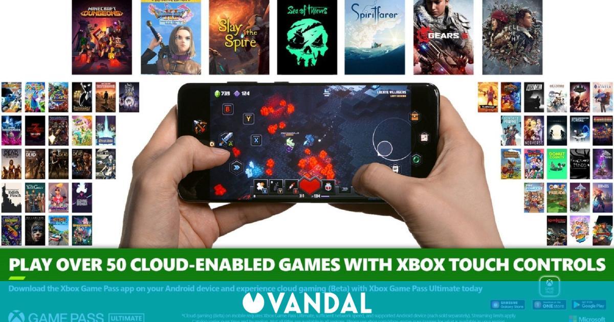 Xbox Game Pass para Android añade controles táctiles en más de 50 juegos