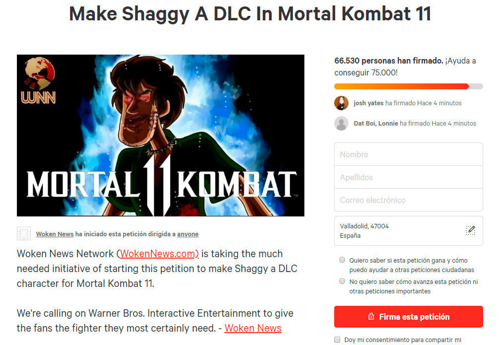 Start a petition to include Shaggy from Scooby-Doo in Mortal Kombat 11
