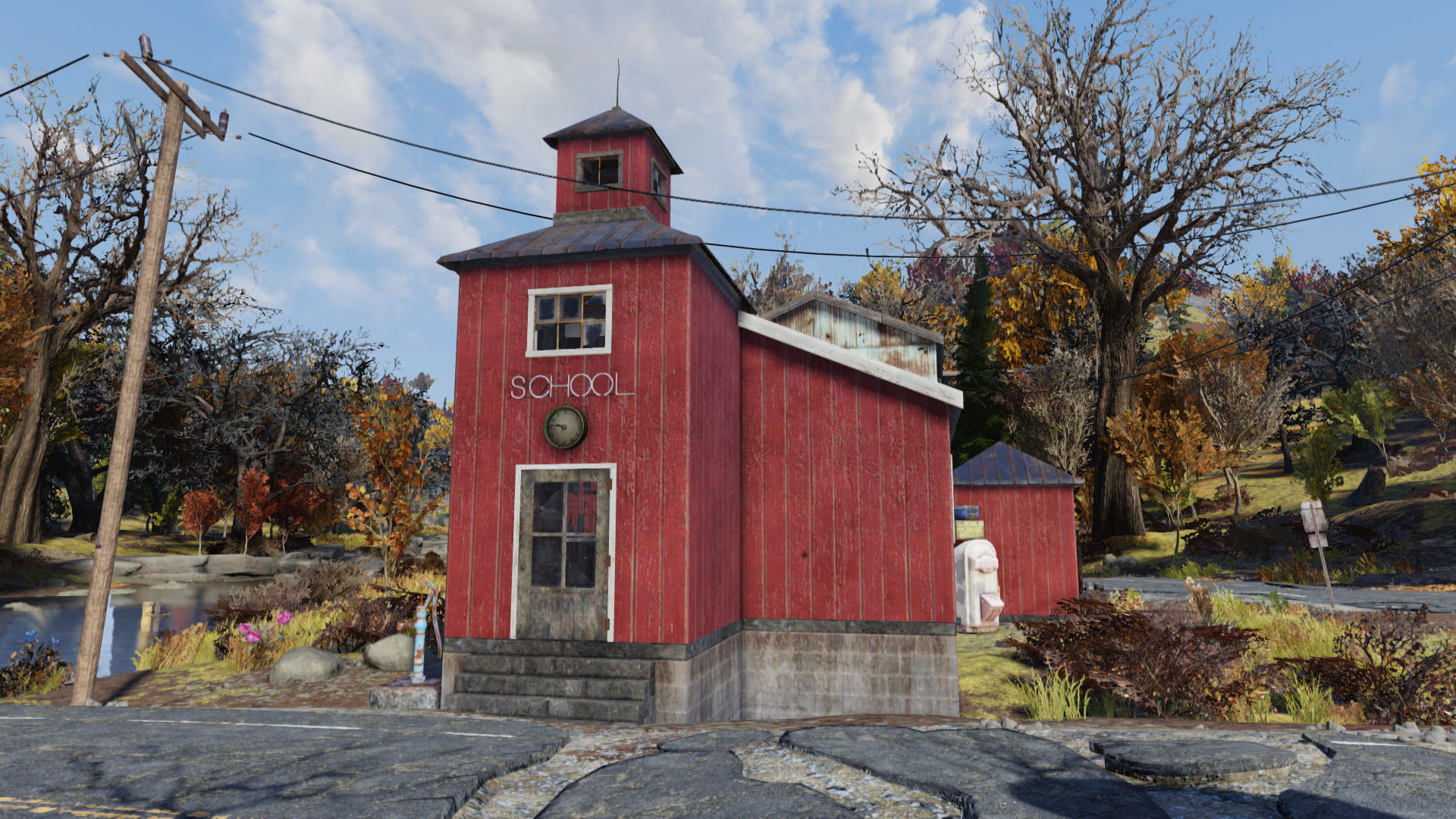 A user creates a school-trap with a riddle mathematician in Fallout 76