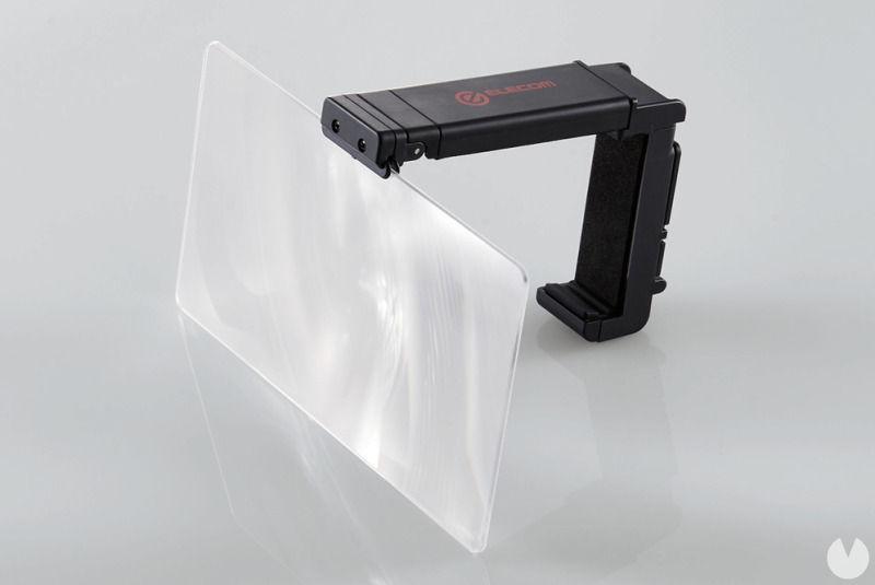 ¿Problemas con el tamaño de la pantalla de Switch? Crean un accesorio con lupa para ello