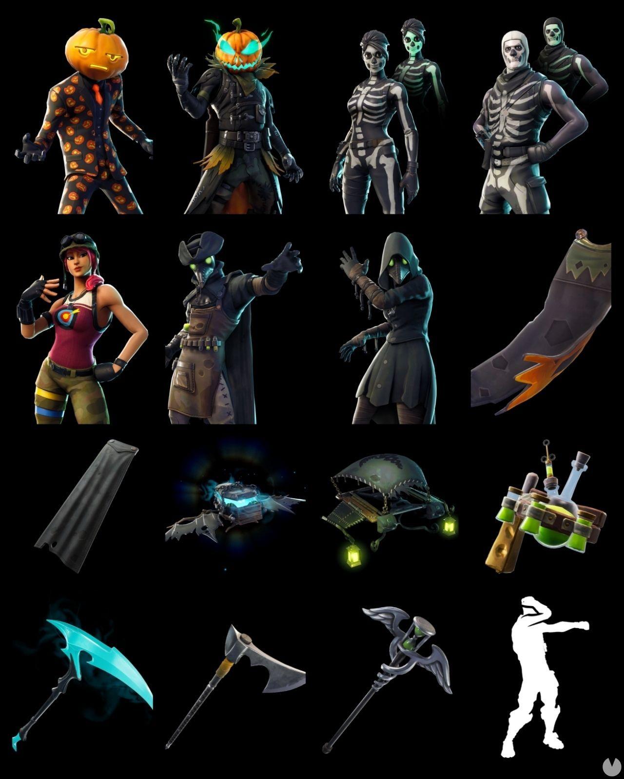 Filtrados numerosos items cosméticos de Halloween para Fortnite