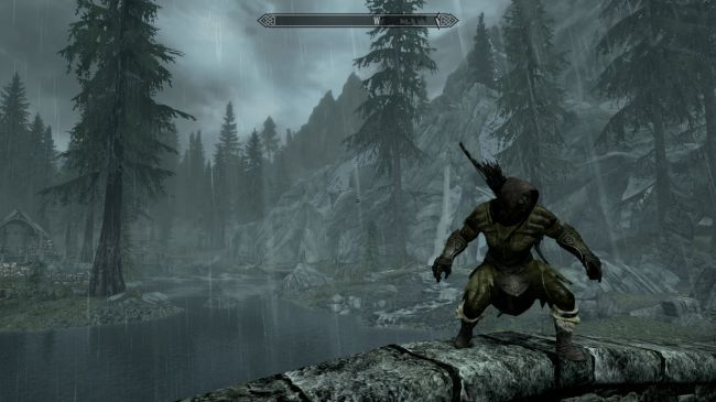 This mod for The Elder Scrolls V: Skyrim adds rain realistic to the game