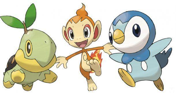 Pokémon GO - Cuarta generación: Turtwig, Chimchar y Piplup