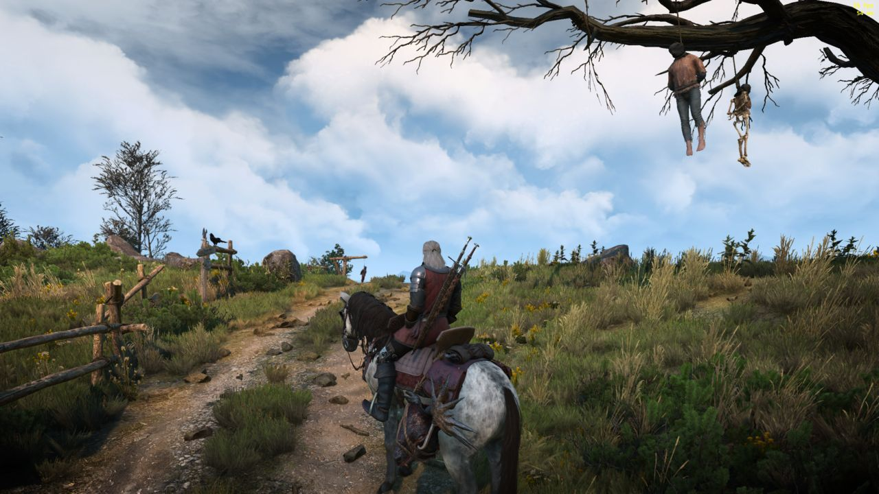 A new mod The Witcher 3 adds clouds more realistic