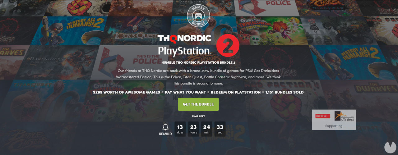 The new Humble Bundle is dedicated to THQ Nordic on PlayStation 4