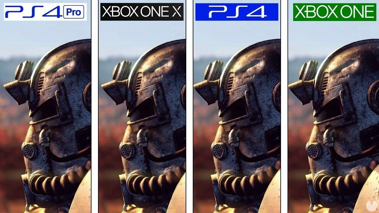 graphical Comparison of Fallout 76 on Xbox One, PS4, PS4 Pro and Xbox One X