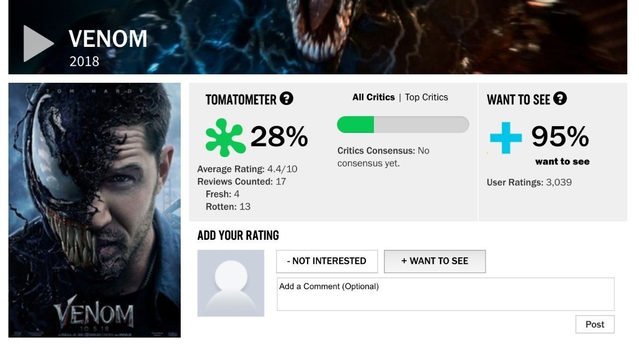 Retorcido e impredecible Tom Hardy en la espectacular Venom