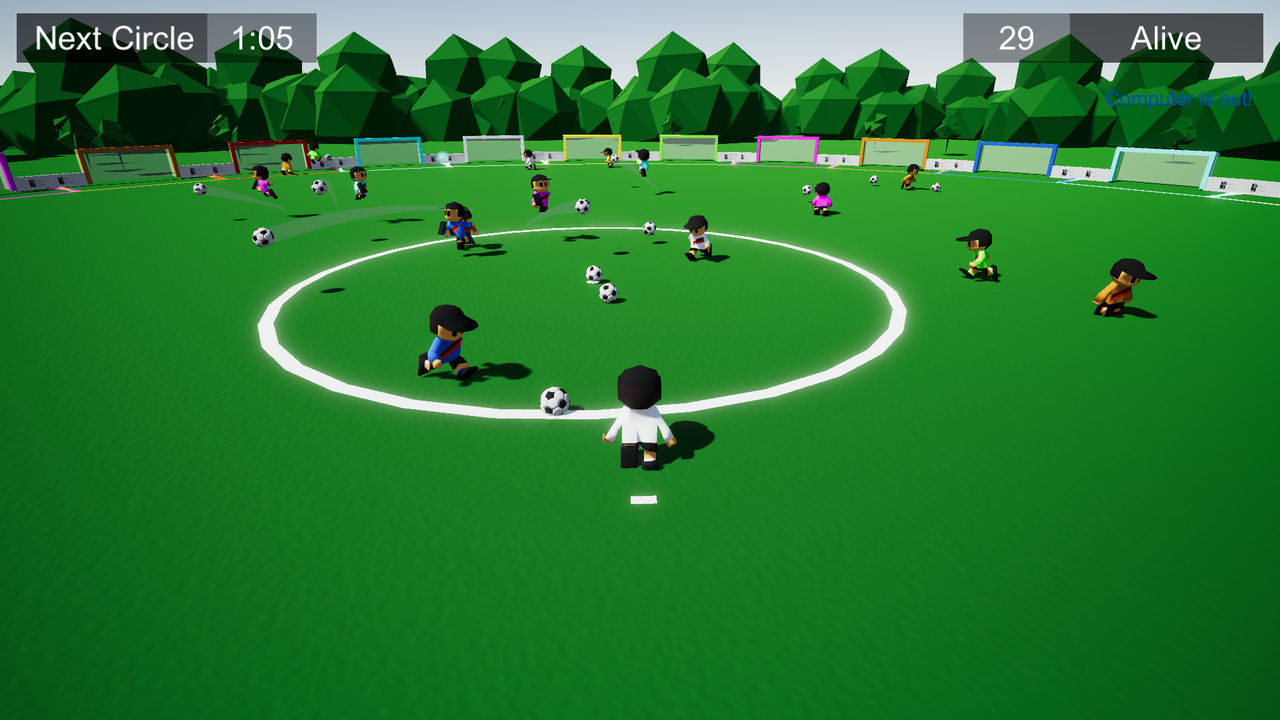 this is Soccer, Battle Royale, a 'battle royale' themed football