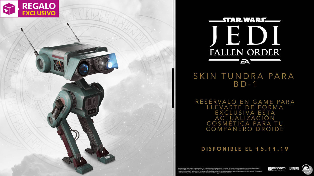 GAME details their pre-order incentives and editions for Star Wars Jedi: Fallen Order