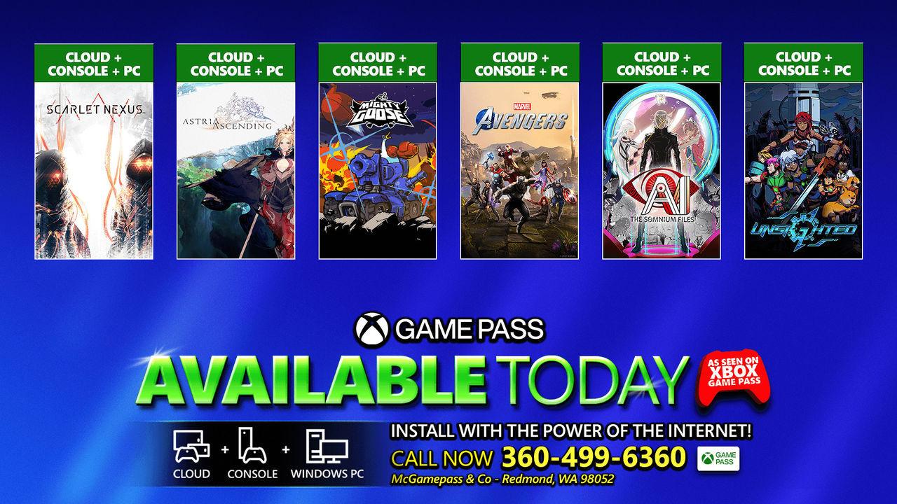 Marvel's Avengers, Scarlet Nexus y más juegos ya disponibles Xbox Game Pass