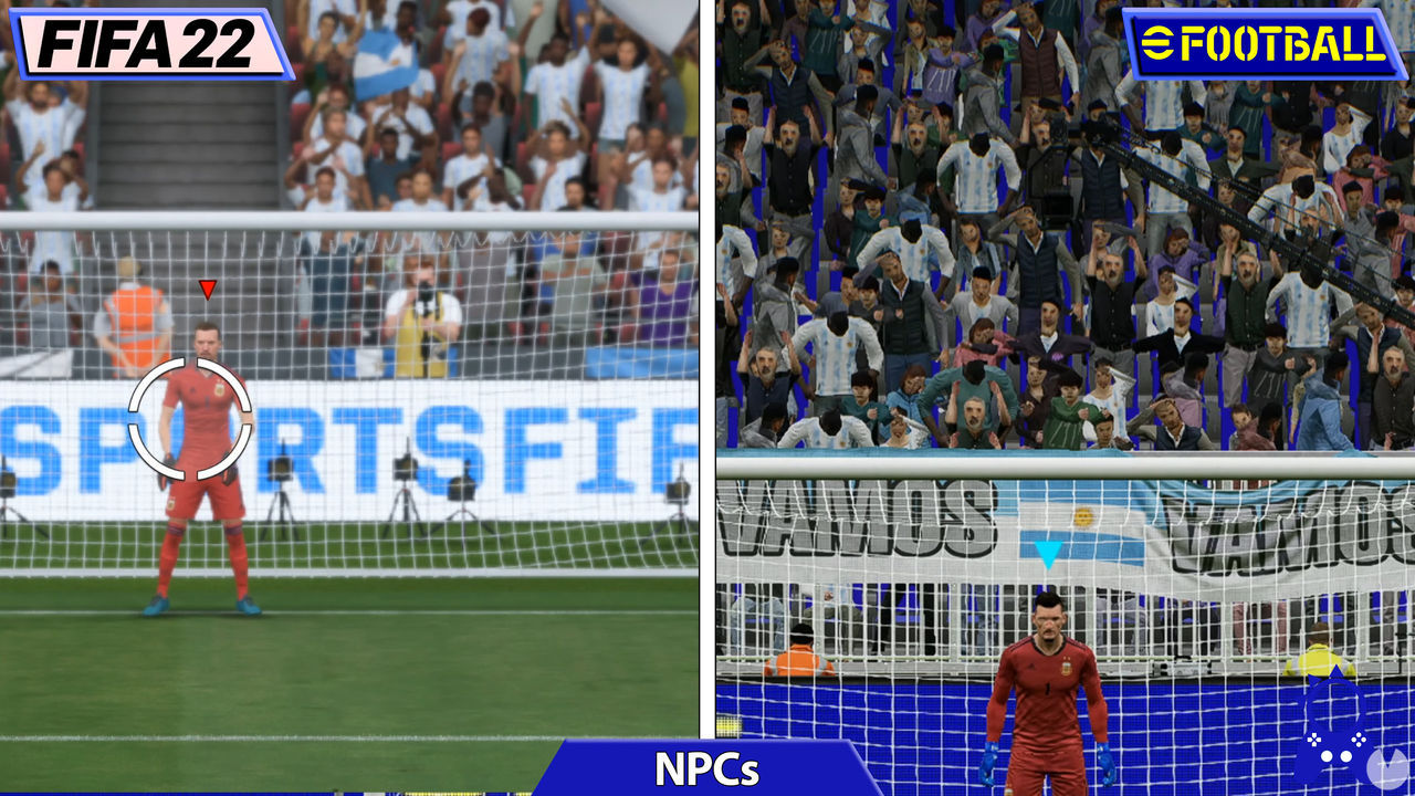 Comparativa FIFA 22 y eFootball 2022