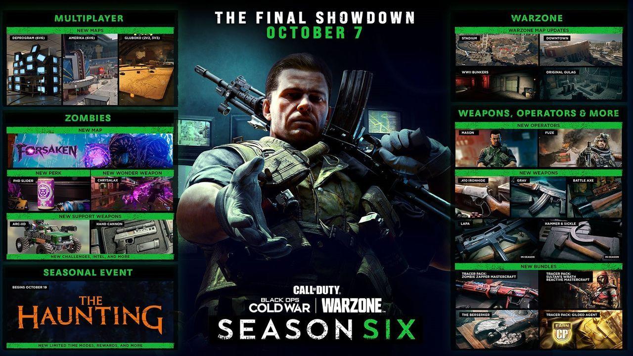 Hoja de ruta de la temporada 6 de Warzone y Black Ops Cold War