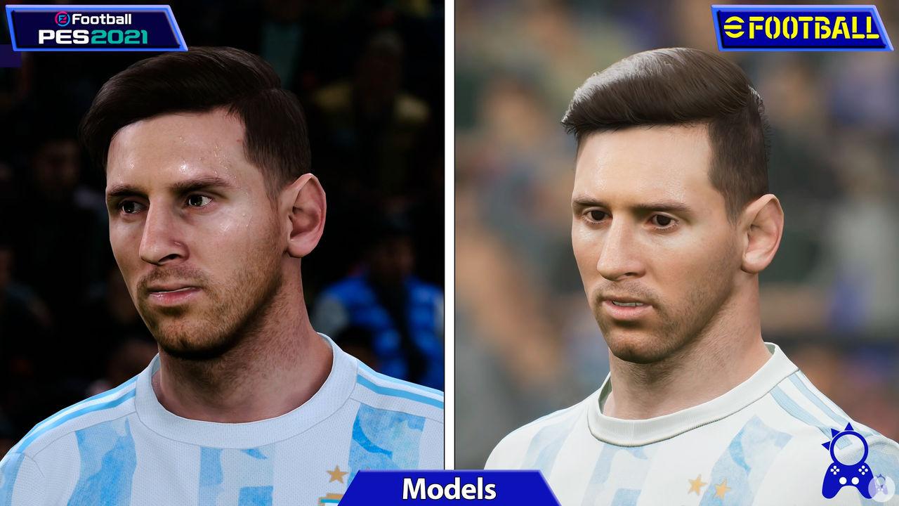 Comparativa eFootball 2022 con PES 2021
