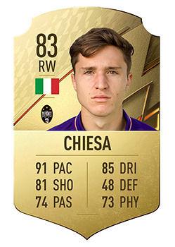 FIFA 22: I giocatori con il maggior potenziale Federico Chiesa
