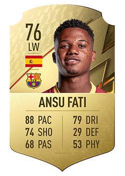 FIFA 22: I giocatori con il maggior potenziale Ansu Fati