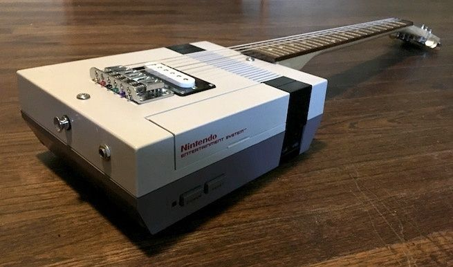 Designing an electric guitar by making use of a NES, and a NES Mini