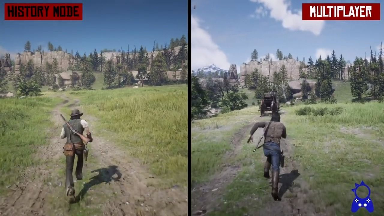 Red Dead Redemption 2: Compare the graphics of the campaign and the multiplayer