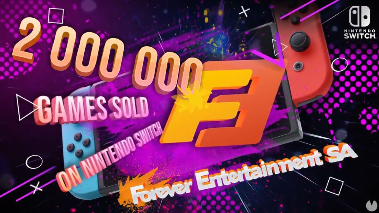 Forever Entertainment celebrates 2 million games sold in Switch