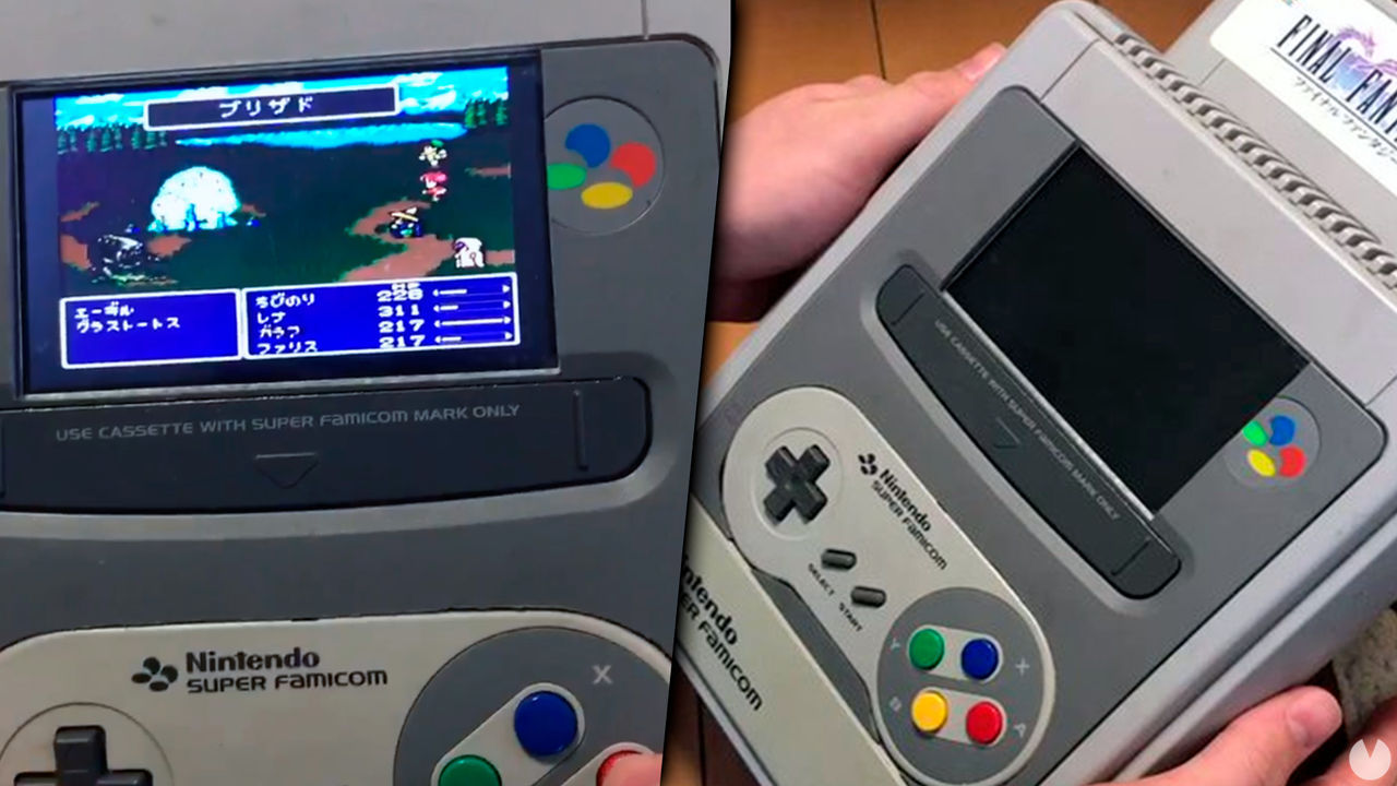 Build a Super Nintendo portable with the housing of the own console